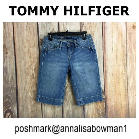 NWT Low Rise Boyfriend Denim Jean Shorts NEW TOMMY HILFIGER Size 2